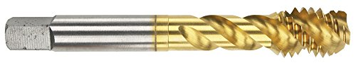 Morse Cutting Tools 94667 Spiral Flute Eight Pitch ShearTap, High-Speed Steel, Titanium Nitride Finish, Semi-Bottoming…