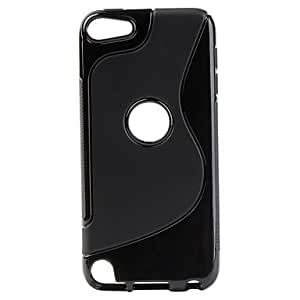 WEV S-Shape Soft TPU Case with Anti-Slip Sides for ipod touch 5 (Assorted Colors) , Black
