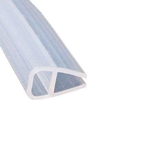 Etopar Bath Door Seal Strip Shower Screen Window Gap Seal Curved Flat Rubber Glass Bottom Frameless Weather 10mm 78