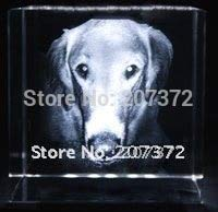 ZAMTAC ! Customize 558CM,Crystal Paperweight/Crystal Decoration with 3D Dog/Promotional Gift, Wholesale and Retail
