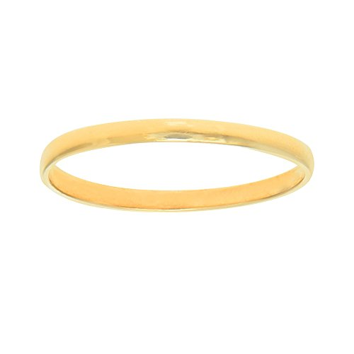 Gold Ring Baby - JewelStop 14K Real Yellow Gold Shiny Baby Infant Round Children Ring Sz 3