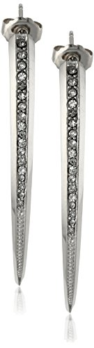 PHUN by Paige Novick Amber Collection Shiny Silver Short Curved Spike Earrings by PHUN by Paige Novick
