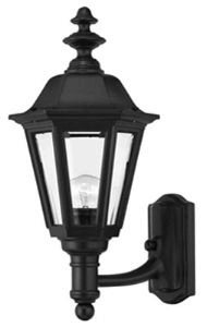 Hinkley 1419BK Traditional One Light Wall Mount from Manor House collection in Blackfinish, by Hinkley