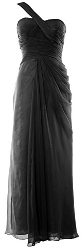 MACloth Women One Shoulder Long Evening Gown Wedding Party Formal Prom Dress Negro