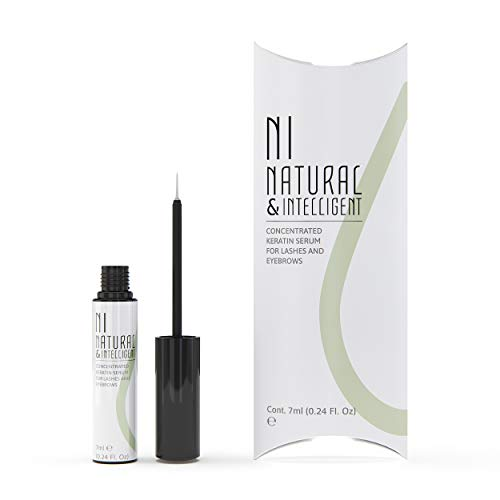 d79d10b0dc0 NATURAL & INTELLIGENT - Eyelash Serum with Nourishing Keratin for Sensitive  Eyes I Lash Enhancers I Eye-Lash Growth Serum for more Volume & Length I  Thicker ...