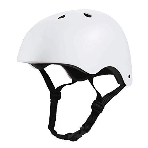 Crazy Loop Kids/Toddler Bike Helmet Certified Impact Resistance Ventilation for Bicycle Cycling Skateboarding Scooter Roller Skate Inline Rollerblading Longboard. Adjustable Straps. Boys/Girls. White