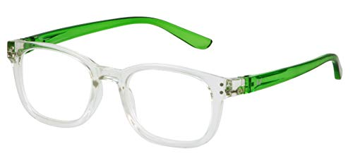 - Bunny Eyez Anna Wearable, Tilt-able, Flip-able Women's Reading Glasses (Diamond Clear Crystal with Neon Green Temples, 2.50)