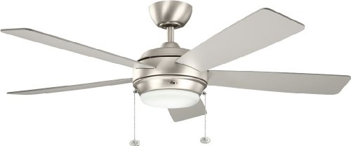 Kichler 300173NI 52-Inch Starkk Fan, Brushed Nickel