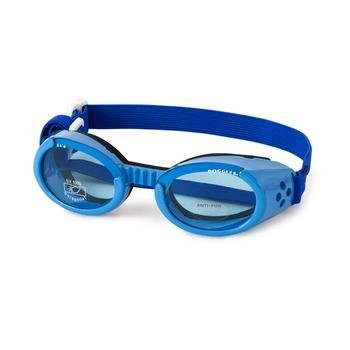 Doggles ILS XL Shiny Blue Frame with Blue Lens Dog Goggles by Doggles