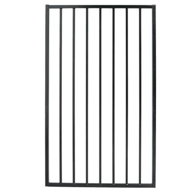 Outdoor Steel Fence Gate Ornamental Style Black Finish Pro Series 3 ft. W x 5 ft.