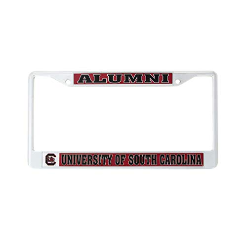 Desert Cactus University of South Carolina Alumni Metal License Plate Frame for Front Back of Car Officially Licensed (Alumni)