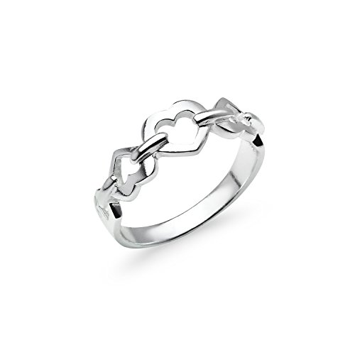 Interlocking Heart Ring - 3