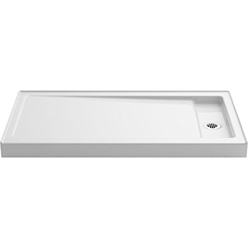 Cast Iron Shower (KOHLER K-9164-0 Bellwether 60-Inch x 32-Inch Single-Threshold Shower Base with Right Center Drain, White)