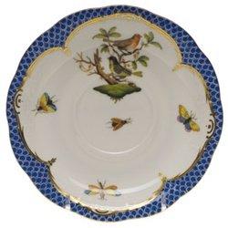 Herend Rothschild Bird Blue Tea Saucer Motif #3