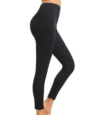 LANFEI Women's High Waist Fleece Lined Leggings Soft Stretch Yoga Pants