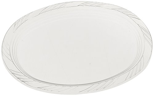 Blue Sky 10 Count Heavyweight Plastic Oval Platters, 9
