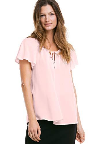 Ellos Women's Plus Size Flutter Sleeve Tunic - Cool Pink, 20 (Sleeve Flutter Tops Plus)