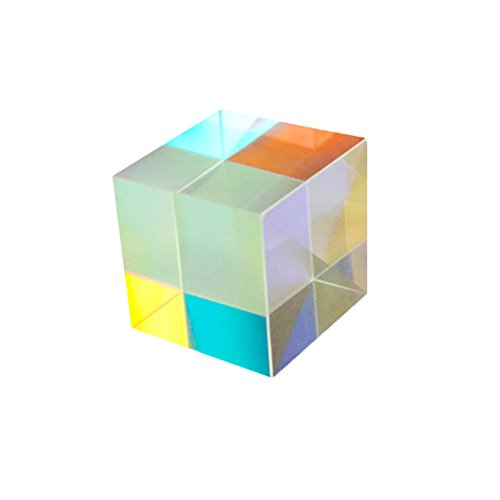 (Hemobllo 3pcs Optical Glass Cube Prism for Photography Teaching Light Spectrum Physics)