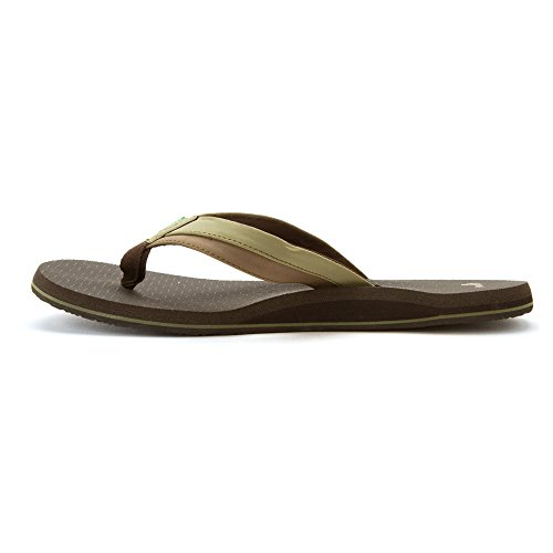 Olive Light Brown Zehentrenner Cozy Beer Sanuk PcnwIx8c