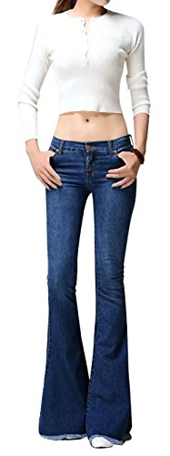 Skinny Jeans Boots (Allonly Women's Fashion Skinny Fit Stretch Low Waisted Bootcut Jeans Pants)