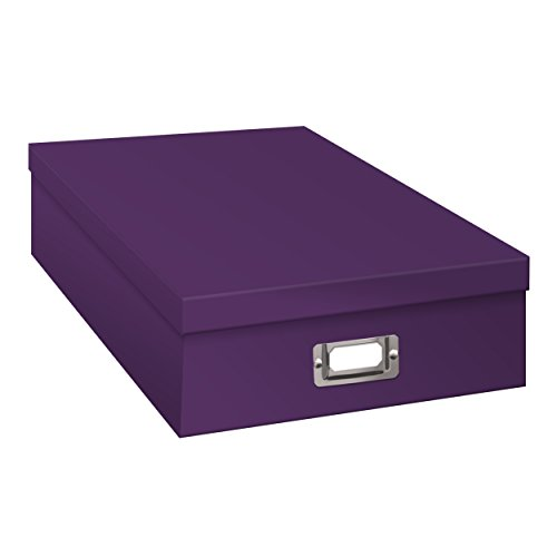 Pioneer Jumbo Scrapbook Storage Box, Purple