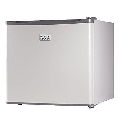 BLACK+DECKER, Compact Upright Freezer, Single Door, 1.2 Cubic Feet, White BUFK12W