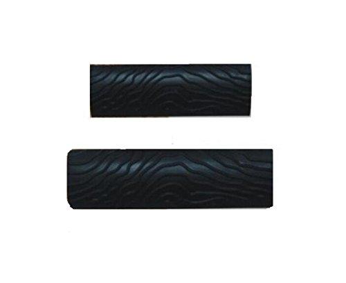 Shentian 2 pcs M-shape (Ms6, Ms7, MS8) Grain de bois Motif Outil de dé coration Grain en caoutchouc Peinture, Noir (MS8) MS8) Grain de bois Motif Outil de décoration Grain en caoutchouc Peinture