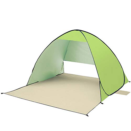 (HW Large Pop up Beach Tent Automatic Sun Shelter Outdoor Cabana Sun Umbrella 1-2 Person Fishing Anti UV Sun Shelter Tents Instant)