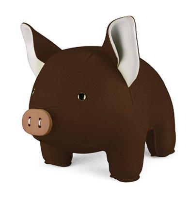 Zuny Classic Series Piggy Gray Animal Bookend