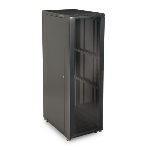 Server China Cabinet - 42U LINIER Server Cabinet - Glass/Glass Doors - 36