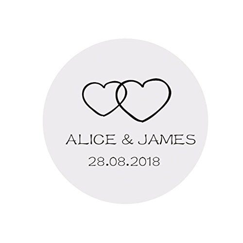 Homemade Cards Embellishment Invitation Envelopes Seals eKunSTreet /® 48x Personalised 40mm Round Wedding Favour Stickers Labels Wedding Bells Sticker