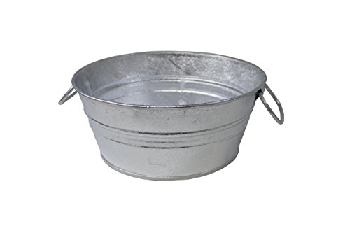 Behrens 103LFT 1.5 Gallon Hot Dipped Steel Low Flat Tub, Silver]()
