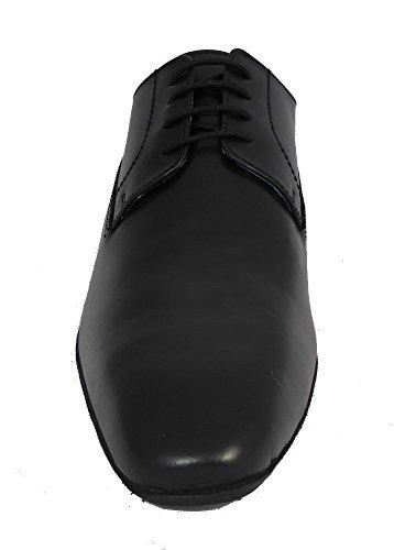 Route 21 - Zapato Gibson con cordones hombre negro