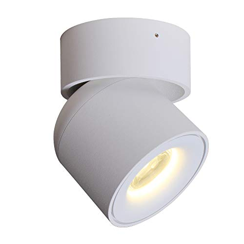 Aisilan Flush Mount Spotlight; Rotating Lamp LED Ceiling Light, 3-Dimension Adjustable Minimalist White/Black Nordic-Style [Natural/Warm White](Applications: Home,Events, Exhibitions) MSD52W3K7W