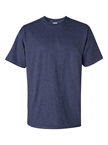 Gildan Men's Ultra Cotton Tee, Heather Navy, Small - Navy Blue Stadium T-shirt