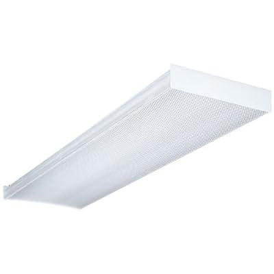 Lithonia Lighting LB 2 17 120 RE 2-Feet 2-Light 17W T8 Fluorescent Wraparound for Residential Use, White