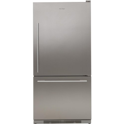 - Fisher Paykel RF175WDLX1 17.5 Cu. Ft. Stainless Steel Counter Depth Bottom Freezer Refrigerator - Energy Star