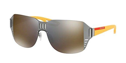 Prada Linea Rossa 0PS 05SS-5AV4L0 GUNMETAL -44mm - Sunglasses Prada Shield Mens