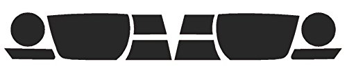 Precut Vinyl Tint Cover for 2010-2013 Chevrolet Camaro Headlights (20% Dark - Camaro Front Cover
