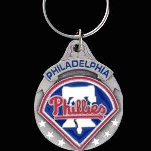 MLB Philadelphia Phillies Carved Key Chain, Metal, One ()