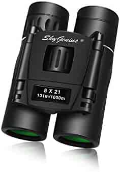 Skygenius 8x21 Small Binoculars Compact Lightweight For Concert Theater Opera Mini Pocket Folding Binoculars with Fully Coated Lens For Travel Hiking Bird Watching