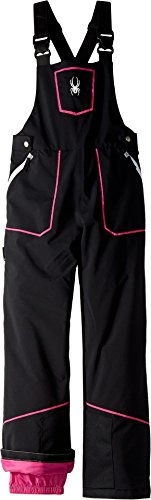 Spyder Kids Girl's Mimi Overall Pants (Big Kids) Black/Raspberry 14 by Spyder