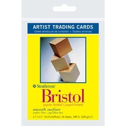 Strathmore Bulk Buy (6-Pack) Artist Trading Cards 2.5 inch x 3.5 inch 20 Pack Bristol Smooth 62105901