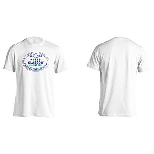 Neue Glasgow Flughafen Stempel Herren T-Shirt l506m