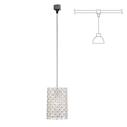 KIVEN Crystal and Chrome Brilliant Mini Pendant Light – H-type Track Lighting pendant lamp,Bulb Not Include,One pcs/ctn … (TB0296)