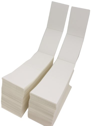 Compulabel Thermal Transfer Shipping Labels, 4 x 6 Inches, White, Fanfold, Permanent Adhesive, Perforations Between Labels, 4000 Per Carton (670004)
