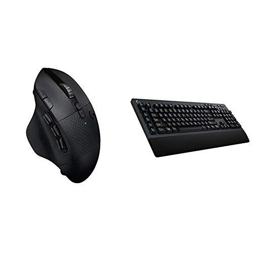 Logitech G604 Lightspeed Wireless Gaming Mouse Bundle with Logitech G613 Lightspeed Wireless Mechanical Gaming Keyboard, Multihost 2.4 GHz + Blutooth Connectivity