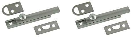 Satin Nickel Surface Bolt Pack of 5 Belwith Products 1849-SN 3 in