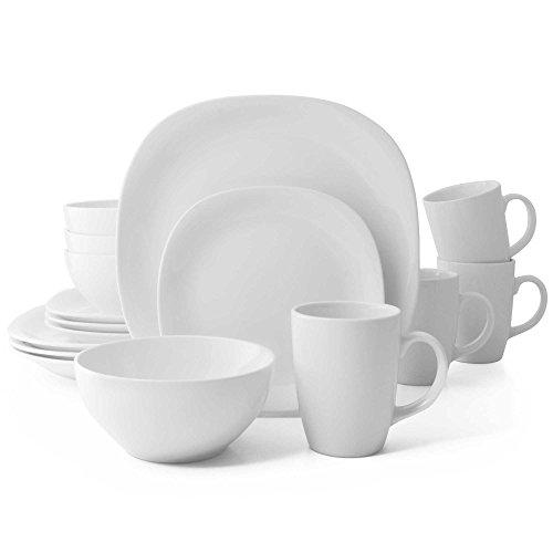 Thomson Pottery 16-pc. White Quadro Set (Dinnerware Pottery)