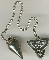 Xeonix Pendulums – , Classic Tear Drop Silver Knot